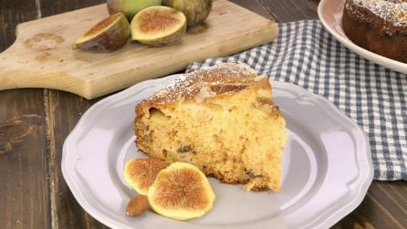 Fig and nuts cake: the result will be a moist and delicious cake everyone will love!