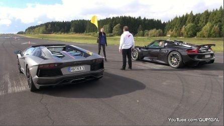 Porsche Spider vs Lamborghini Aventador: una sfida straordinaria tutta da gustare