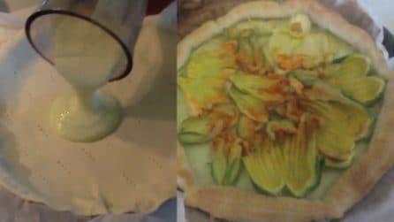 Torta salata con fiori di zucca: una ricetta davvero squisita