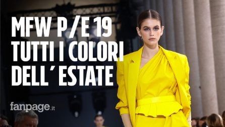Milano Fashion Week: i colori di tendenza per la Primavera/Estate 2019