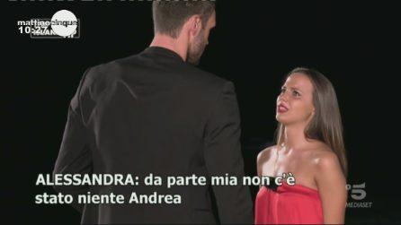 Temptation Island Vip, le lacrime di Alessandra al falò con Andrea