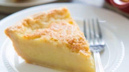 Torta cremosa al limone con base di frolla: ogni fetta è un'esplosione di gusto