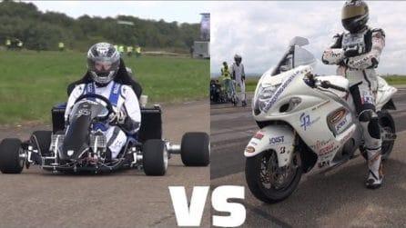 Go Kart vs Suzuki: una sfida insolita e non scontata come sembra