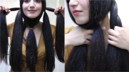 Lega i capelli in questo modo, poi intreccia: un'acconciatura fantastica in pochi minuti