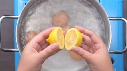 Come sgusciare le uova sode facilmente: vi basterà un limone