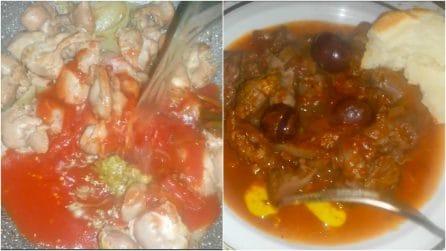 Ventrigli di pollo con olive e cipolle: un piatto semplice e saporito