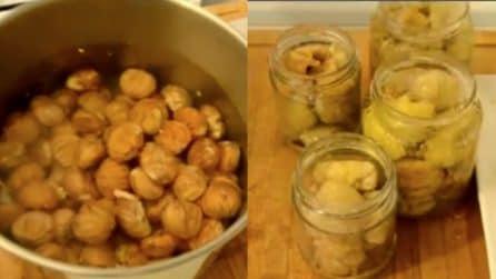La ricetta per gustose castagne sciroppate