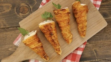 Puff pastry carrots: a fun and unique appetizer!