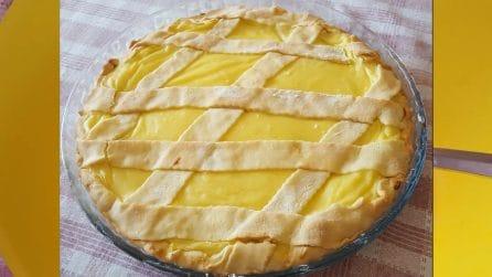Crostata senza burro con crema pasticcera al limone: una vera delizia