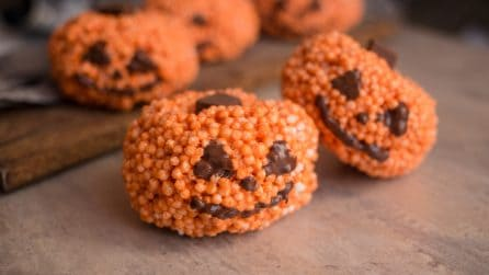 Puffed rice pumpkins: the perfect idea for Halloween!