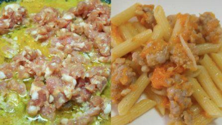 Penne rigate e cremose con zucca e salsiccia: una ricetta da provare