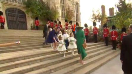 """Royal Wedding, la domanda sfacciata della figlia di Robbie Williams:""""Sei tu la regina?"""""""