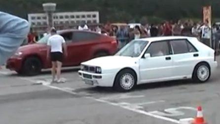 Lancia Delta vs BMW X6M: una sfida che sembra scontata ma non lo è