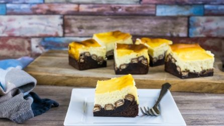 Chocolate Brownie Wafer Cheesecake