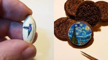Hasan Kale, il pittore artista che dipinge opere d'arte su oggetti in miniatura