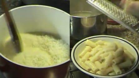Rigatoni con crema di pecorino e pepe: parola d'ordine cremosità