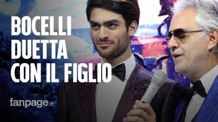 """Andrea Bocelli e il figlio Matteo duettano per la prima volta: """"A casa cantiamo sempre insieme"""""""