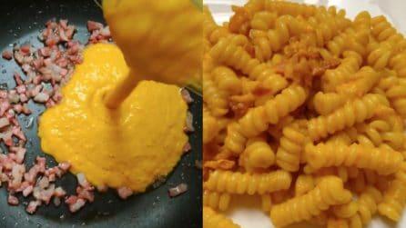 Pasta con crema di peperoni e pancetta: ti innamorerai di questo sapore
