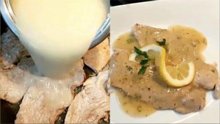 Scaloppine al limone: il secondo piatto veloce e cremoso
