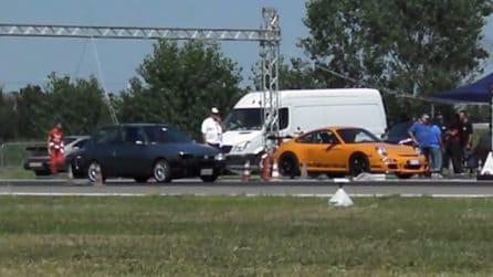 Fiat Uno Turbo vs Porsche GT3: il risultato sembra già scritto ma ecco la sorpresa