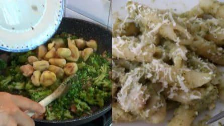 Penne con castagne, broccoli e noci: un primo piatto da acquolina in bocca