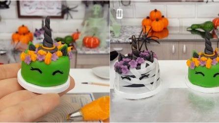 Halloween unicorn zombie and witch cake!