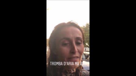 """Maltempo a Milano, Benedetta Parodi: """"Un tronco si è abbattuto sul mio posto auto"""""""