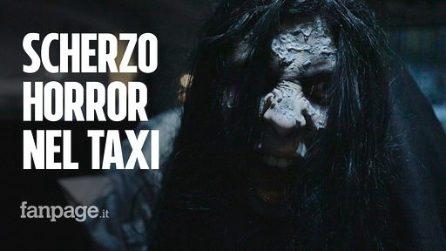 Lo scherzo della bambina assassina - candid camera in taxi