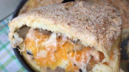 Gateau di patate con zucca e funghi: il piatto filante e saporito