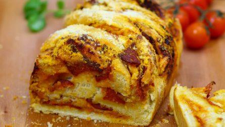 Treccia di pizza: facile, morbida e saporita!