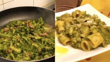 Mezze maniche con cime di rapa e salsiccia: un primo piatto da provare