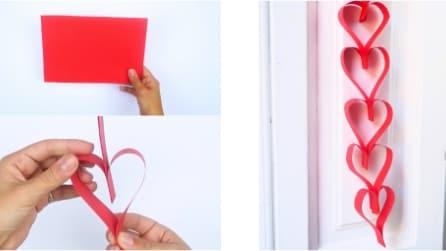 Cuori di carta: l'idea romantica per decorare la casa con un cartoncino