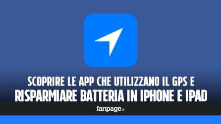 Scoprire quale app utilizza il GPS in iPhone per risparmiare batteria