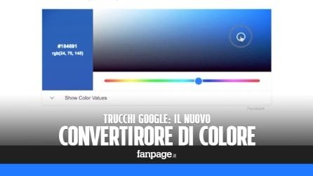 Il nuovo convertitore di colori RGB/HEX di Google