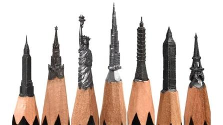 Realizza incredibili opere d'arte in miniatura scolpendo la punta della matita