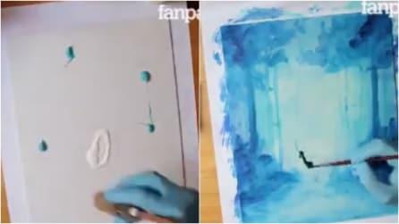 """L'artista crea un'opera unica nel suo genere: la """"sorpresa"""" finale vi lascerà a bocca aperta"""