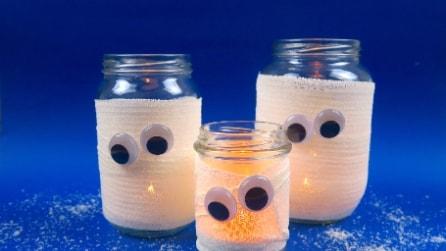 Barattolo fantasma: l'idea per la festa di Halloween