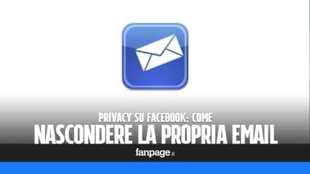 Come nascondere indirizzo email su Facebook