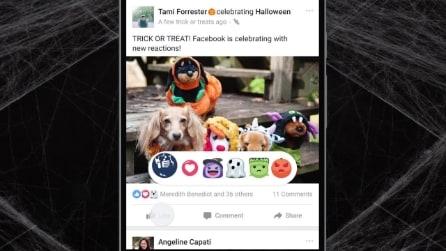 Facebook introduce le Reazioni a tema Halloween