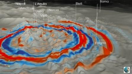 Terremoto Castelsantangelo sul Nera, l'animazione mostra tutte le zone colpite dal sisma