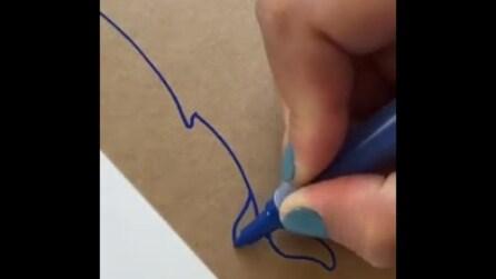 Traccia delle linee sul cartone e crea un'opera d'arte: il risultato vi incanterà