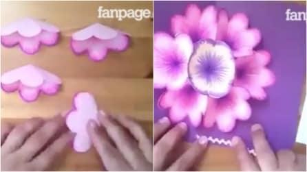 Come realizzare un biglietto di auguri in 3D a tema floreale