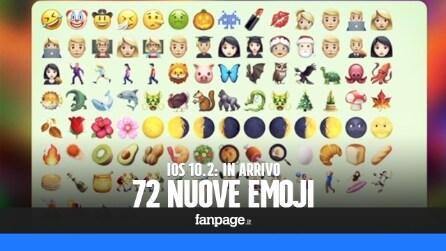 Le 72 nuove emoji di iOS 10.2: arriva (anche) il pollice in giù
