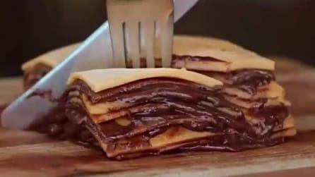 La crepes a vulcano per tutti gli amanti della Nutella