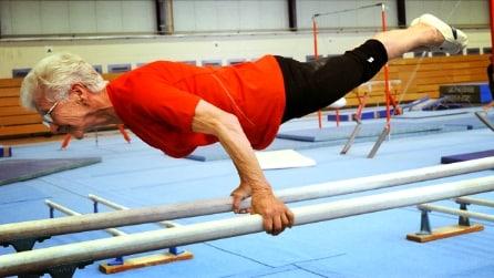 A 91 anni la ginnasta più anziana di sempre si muove come un ragazzina