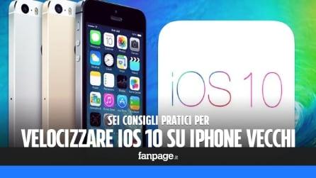 6 consigli per velocizzare iOS 10 in iPhone vecchi