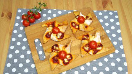 Pizzette girandole: la ricetta golosa e divertente