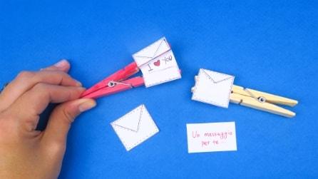 Un messaggio nella molletta: l'idea romantica per dire qualcosa di speciale