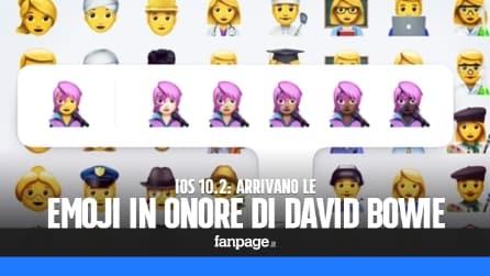 Le emoji di David Bowie in iOS 10.2