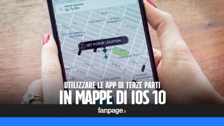 Utilizzare app di terze parti (come Uber) nell'app Mappe di iPhone